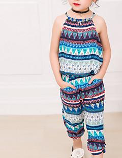 billige Tøjsæt til piger-Børn Pige Boheme Trykt mønster Uden ærmer Tøjsæt