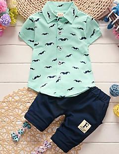 billige Sett med babyklær-Baby Unisex Prikker Kortærmet Tøjsæt