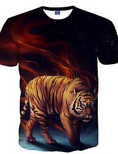 billige Herremote og klær-T-skjorte Herre - Dyr, Trykt mønster Punk & Gotisk Gatemote