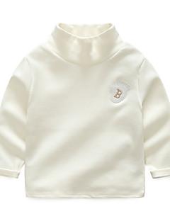 billige Overdele til drenge-Drenge Ensfarvet Langærmet T-shirt