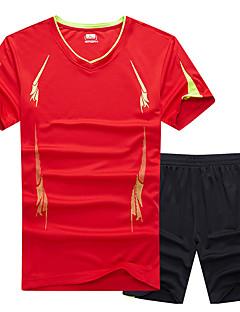 baratos Camisetas para Trilhas-Homens activewear Set Ao ar livre Secagem Rápida Redutor de Suor Respirabilidade Camiseta N/D Acampar e Caminhar Exercicio Exterior