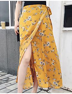 お買い得  レディーススカート-女性用 キュート ブランコ スカート - ソリッド フラワー