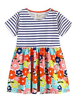 billige Babykjoler-baby pige daglige blomsterkjole, polyester sommer street chic korte ærmer hvid 80 100 90