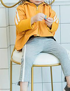 billige Bukser og leggings til piger-Pige Bukser Ensfarvet, Bomuld Bambus Fiber Spandex Forår Sødt Aktiv Grøn Sort Orange Grå