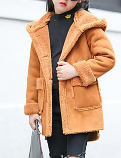 Χαμηλού Κόστους Winter Sale-Κοριτσίστικα Επένδυση με Πούπουλα & Βαμβάκι Μονόχρωμο Χειμώνας Μακρυμάνικο Ανθισμένο Ροζ Χακί