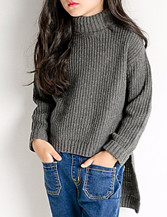 cheap Girls' Sweaters & Cardigans-Kids Girls' Simple Solid Colored Long Sleeve Sweater & Cardigan
