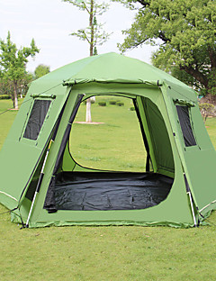 cheap Camping, Hiking & Backpacking-Shamocamel® 5 - 7 persons Beach Tent Double Camping Tent Outdoor Family Camping Tents Retractable for Picnic 1500-2000 mm Terylene