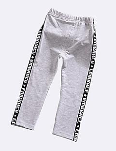 billige Bukser og leggings til piger-Patchwork Pigens Daglig Ferie Bomuld Polyester Forår Sommer Kjole Basale Sort Lyserød Grå