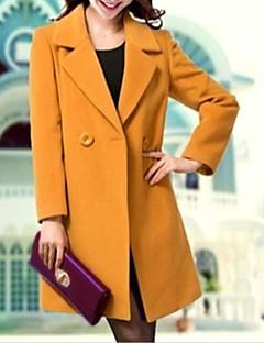 hesapli Büyük Beden Kabanlar-Kadın's Polyester Diğer Solid Basit Günlük İş Giyimi Randevu Günlük Giyim Uzun