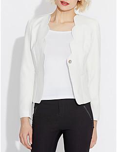 ieftine Sacouri Colorate-Pentru femei În V Blazer Muncă Culoare solidă, Imprimeu