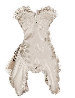 cheap Steampunk-Cosplay Corset Dresses Steampunk Costume Women's Dress White / Red Vintage Cosplay Polyster Sleeveless Sleeveless Short / Mini