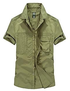 baratos Camisas para Trilhas-Homens Camisa de Trilha Ao ar livre Secagem Rápida Redutor de Suor Respirabilidade Camisa Blusas N/D Exercicio Exterior Multi-Esporte