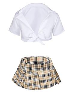 billige Nattøy til damer-Dame Dress Uniformer og kinesiske kjoler Nattøy - Ruter, Flettet