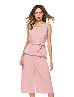 abordables Camisas y Camisetas para Mujer-Mujer Tallas Grandes Blusa Conjunto - Un Color Falda