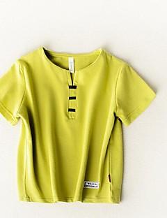 billige Pigetoppe-Unisex Ensfarvet Kortærmet T-shirt