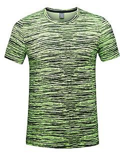 tanie Koszulki turystyczne-Męskie T-shirt turystyczny Na wolnym powietrzu Lato Szybkie wysychanie, Oddychalność, Odvádí pot T-shirt Nie dotyczy Kemping i turystyka, Ćwiczenia na zewnątrz, Multisport Zielony Niebieski Szary