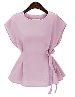 billige Skjorte-Dame - Ensfarvet Aktiv I-byen-tøj Skjorte / Snøre