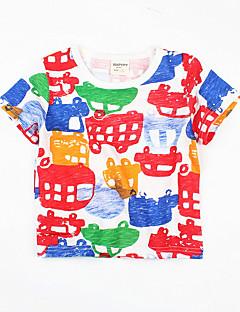 billige Overdele til drenge-Drenge Geometrisk Kortærmet T-shirt