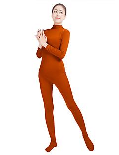 billige Zentai-Zentai Drakter Mote Zentai Cosplay-kostymer Jegergrønn Mørkegrå kaffe Mørk Lilla Lys Lilla Ensfarget Mote Zentai Lycra® Herre Dame