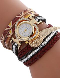 billige Armbåndsure-Dame Armbåndsur Kinesisk Imiteret Diamant / Afslappet Ur PU Bånd Heart Shape / Mode Sort / Hvid / Blåt