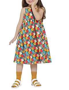billige Pigekjoler-Børn Pige Geometrisk / Farveblok Uden ærmer Kjole
