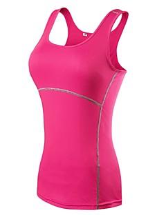 billige Løbetøj-Dame T-shirt til træning Tank Tops - Sport Pilates, Træning & Fitness, Basketbold Uden ærmer Letvægt, Hurtig Tørre, Åndbarhed Elastisk