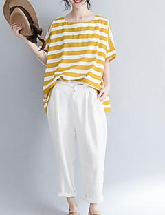 billige T-shirt-U-hals Dame - Stribet T-shirt