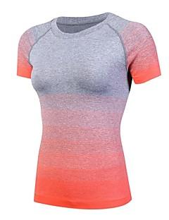 billige Løbetøj-Dame Løbe-T-shirt Sport T-Shirt - Kortærmet Pilates, Træning & Fitness, Basketbold Letvægt, Hurtig Tørre, Åndbarhed Elastisk Sort,