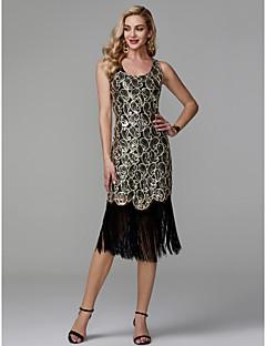 billige Boutique-kjoler! STOR RABATT-Tube / kolonne Dyp utringing Telang Polyester Glitrende Cocktailfest Kjole med Paljett av TS Couture®