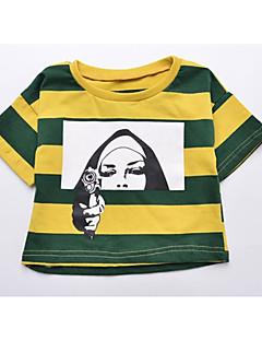 billige Pigetoppe-Baby Pige Stribet / Geometrisk Halvlange ærmer T-shirt