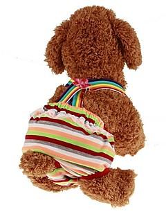 billiga Hundkläder-Husdjur Jumpsuits Hundkläder Rand / Prinsessa Regnbåge Vadderat tyg Kostym För husdjur Herr Sport och utomhus / Klänningar & Kjolar