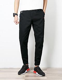 billige Herre Mode Beklædning-Herre Bomuld Chinos Bukser Ensfarvet