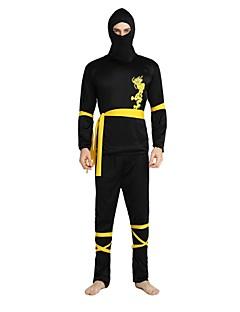 billige Halloweenkostymer-Ninja Drakter Unisex Halloween / De dødes dag / Maskerade Festival / høytid Halloween-kostymer Svart Ensfarget / Halloween Halloween