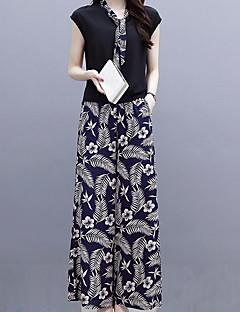お買い得  レディースツーピースセット-女性用 ストリートファッション / モダンシティ セット ソリッド / チェック スカート