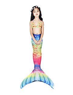 billige Halloweenkostymer-The Little Mermaid Badetøy / Bikini / Kostume Dame Halloween / Karneval Festival / høytid Halloween-kostymer Blæk Blå Vintage Havfrue og