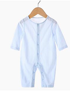billige Babytøj-Baby Unisex Ensfarvet Halvlange ærmer Overall og jumpsuit