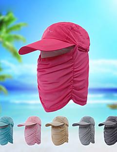 billige Clothing Accessories-Turcaps Ansiktsmaske Hatt Fort Tørring Pusteevne UV-bestandig Sommer Rosa Unisex Fisking Vandring Reise Ensfarget
