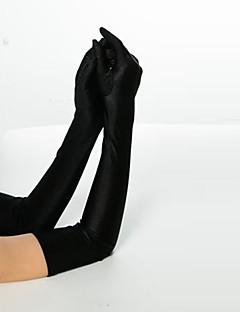 Χαμηλού Κόστους Women's Gloves-Γυναικεία Μονόχρωμο Βίντατζ Ακροδάχτυλα Γάντια