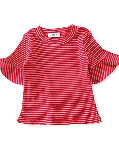 billige Babyoverdele-Baby Pige Basale Stribet T-shirt