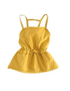 billige Babyoverdele-Baby Pige Ensfarvet Uden ærmer Bluse