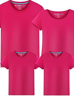 billige Sett med familieklær-Voksen / Barn / Baby Jente Stripet / Fargeblokk Kortermet T-skjorte