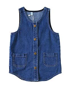 billige Babytøj-Baby Drenge Ensfarvet Uden ærmer Kjole