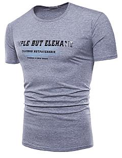 billige Herre Mode Beklædning-Herre - Bogstaver Basale T-shirt