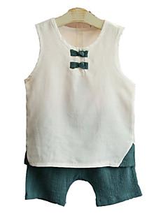 billige Tøjsæt til drenge-Børn Baby Drenge Farveblok Uden ærmer Tøjsæt