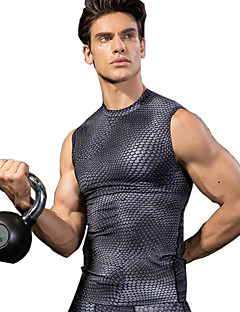 baratos Camisetas para Trilhas-Homens Colete de Trilha Ao ar livre Secagem Rápida, Respirabilidade, Esticar Colete Ciclismo de Lazer / Uso Diário / Fitness