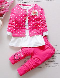 billige Tøjsæt til piger-Baby Pige Prikker Langærmet Tøjsæt