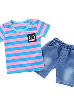billige Tøjsæt til piger-Børn / Baby Unisex Stribet / Farveblok Kortærmet Tøjsæt