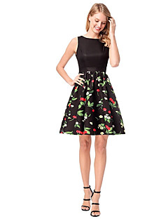 Χαμηλού Κόστους Γυναικεία Φορέματα-Γυναικεία Γραμμή Α Φόρεμα - Γεωμετρικό Πάνω από το Γόνατο