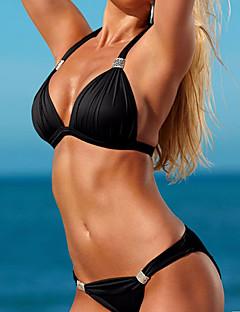 billige Bikinier og damemote 2017-Dame Grunnleggende Grime Trekant Bikini Ensfarget