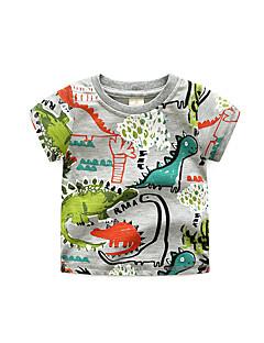 billige Overdele til drenge-Børn Drenge Ensfarvet Kortærmet T-shirt